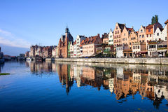 Gdansk Old Town and Motlawa River Royalty Free Stock Photo