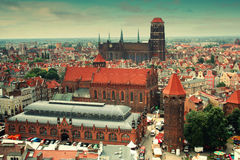 Gdansk Old Town panorama Stock Photography