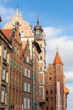 Gdansk Old Town in Poland. On a sunny day Stock Images