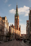 Gdansk Old Town in Poland. On a sunny day Royalty Free Stock Photos