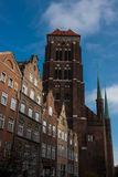 Gdansk Old Town in Poland. On a sunny day royalty free stock images