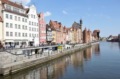 Gdansk Old Town. Poland. Gdansk Old Town. View from Moltawa River Royalty Free Stock Photography
