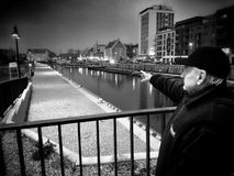 Gdansk, old Town sightseeing. Artistic look in black and white. Royalty Free Stock Images