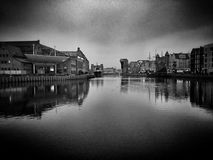 Gdansk, old Town sightseeing. Artistic look in black and white. Royalty Free Stock Photos