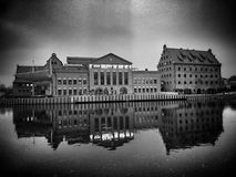 Gdansk, old Town sightseeing. Artistic look in black and white. Stock Photo