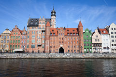 Gdansk Old Town Skyline With Chlebnicka Gate Stock Photo