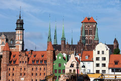Gdansk Old Town Skyline Royalty Free Stock Image