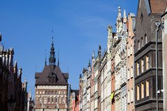 Gdansk Old Town Skyline in Poland Stock Photography