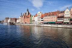 Gdansk Old Town Skyline River View Royalty Free Stock Image