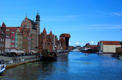 Gdansk Old town. View of the Old Town in Gdansk Poland Stock Images