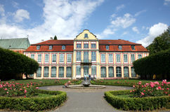 Gdansk Oliwa ( Oliva ) in Poland. Residence of Abb Royalty Free Stock Photo