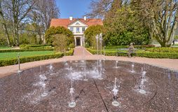 GDANSK OLIWA, POLAND - APRIL 30, 2018: Park in Gdansk Oliwa on 3. 0 April 2018 in Gdansk Oliwa, It is a very old big park visited by tourists from around the Royalty Free Stock Photo