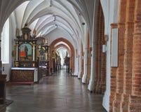 Gdansk Oliwa Polen domkyrka Arkivbilder