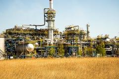 Gdansk oljeraffinaderi Royaltyfri Bild