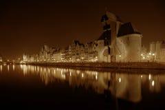 Gdansk på natten Royaltyfri Foto