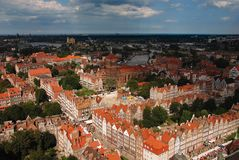 Gdansk panorama Stock Images