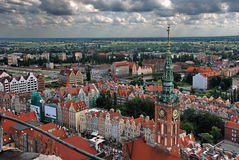 Gdansk-Panorama Stockfoto