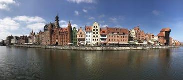 Gdansk panorama Royaltyfria Bilder