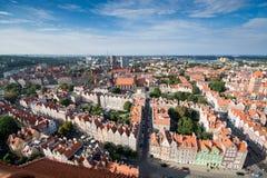 Gdansk panorama Stock Image