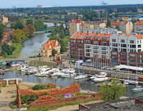 Gdansk panorama royalty free stock images