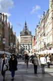 Gdansk, Polônia 25 de agosto: Rota real com as construções históricas do centro em Gdansk do Polônia Fotos de Stock Royalty Free
