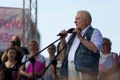 Gdansk, Polônia, 22 07 2017 - ex-presidente do Polônia Lech Wal Fotografia de Stock Royalty Free