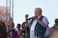Gdansk, Polônia, 22 07 2017 - ex-presidente do Polônia Lech Wal Foto de Stock