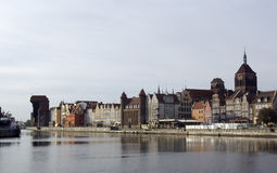 Gdansk, Poland. Panoramic view of Gdansk, Poland Stock Image