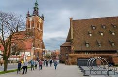 Free Gdansk, Poland, April 15, 2018: St. Catherine Parish Protestant Roman Catholic Church Stock Image - 176716851