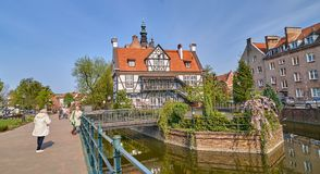 Free GDANSK, POLAND - APRIL 28, 2018: Historical Miller`s House With Stock Photo - 118306680