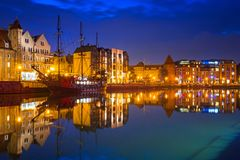 Gdansk, Poland - AprilOld town of Gdansk and Hilton hotel Royalty Free Stock Images