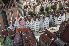 GDANSK, POLAND - AUGUST 04, 2017: Cityscape aerial view on the o Royalty Free Stock Photo
