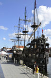 Gdansk,Poland-august 25:Galleon on Motlawa river in Gdansk from Poland Stock Photography