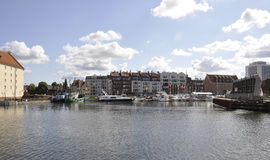 Gdansk,Poland-august 25:Harbor of Gdansk from Poland Royalty Free Stock Photo