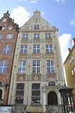 Gdansk,Poland-august 25:Historic Building facade downtown in Gdansk from Poland Royalty Free Stock Images