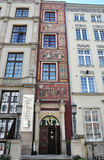 Gdansk,Poland-august 25:Historic Buildings facade downtown in Gdansk from Poland Stock Image