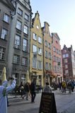 Gdansk,Poland-august 25:Historic Buildings view downtown in Gdansk from Poland Stock Image