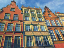 Colorful Houses In Gdansk Poland Stock Photo