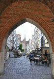 Gdansk,Poland-august 25:Mariacka Street in Gdansk from Poland royalty free stock image