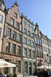 Gdansk,Poland-august 25:Royal Route buildings in Gdansk from Poland Royalty Free Stock Photography