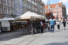 Gdansk,Poland-august 25:Royal Route downtown in Gdansk from Poland Stock Photo