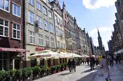 Gdansk,Poland-august 25:Royal Route Downtown in Gdansk from Poland royalty free stock images