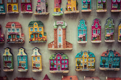 GDANSK, POLAND - AUGUST 04,2017: Souvenir magnets of the cities. Of Gdansk Stock Photography