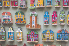 GDANSK, POLAND - AUGUST 04,2017: Souvenir magnets of the cities. Of Gdansk Royalty Free Stock Image