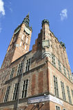 Gdansk,Poland-august 25:Town Hall (Ratusz)downtown in Gdansk from Poland Royalty Free Stock Photography