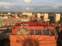 Gdansk Poland, view from Amber Sky wheel Royalty Free Stock Photography