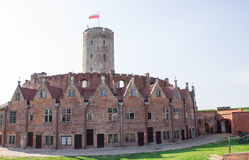 Gdansk, Poland, August 27, 2016: Wisloujscie Fortress - Polish historic fort. Royalty Free Stock Images