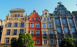 Gdansk, Poland:  Baroque Mansions Royalty Free Stock Photos