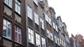 Gdansk Poland Centro de cidade velho Edifícios históricos filme