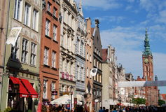 Gdansk, Poland: Dluga Targ Mansions Stock Photos